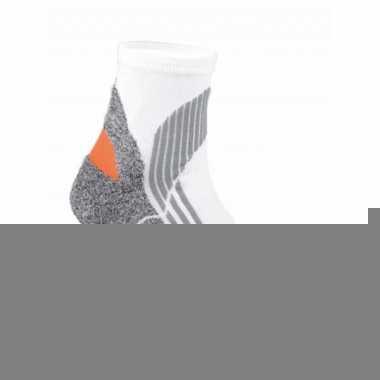 Goedkope 2x paar hardloop sokken in het wit maat 43 46