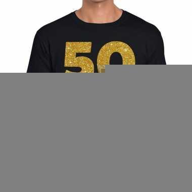 Goedkope 50 jaar fun jubileum t shirt zwart voor heren