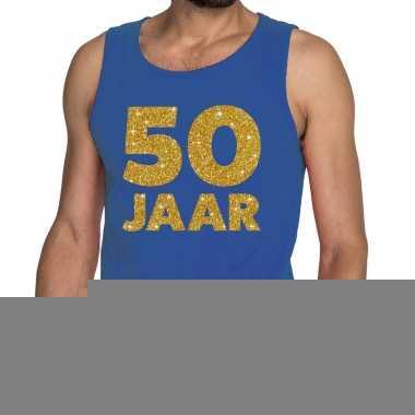 Goedkope 50 jaar fun tanktop / mouwloos shirt blauw voor heren