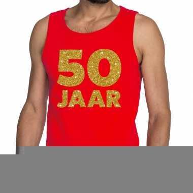Goedkope 50 jaar fun tanktop / mouwloos shirt rood voor heren