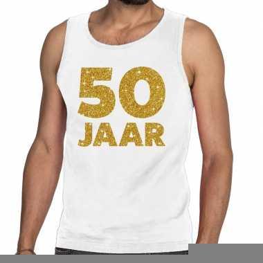 Goedkope 50 jaar fun tanktop / mouwloos shirt wit voor heren