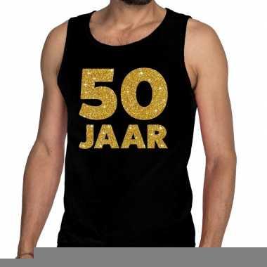 Goedkope 50 jaar fun tanktop / mouwloos shirt zwart voor heren