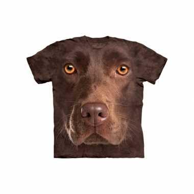 Goedkope all over print t shirt bruine labrador