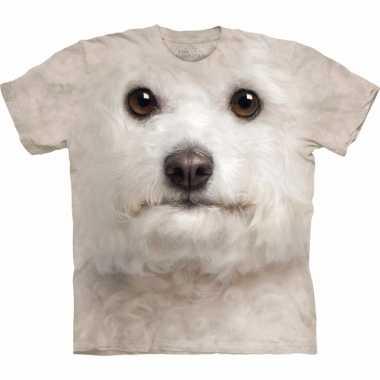 Goedkope all over print t shirt met bichon frise