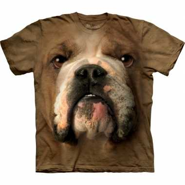 Goedkope all over print t shirt met bulldog