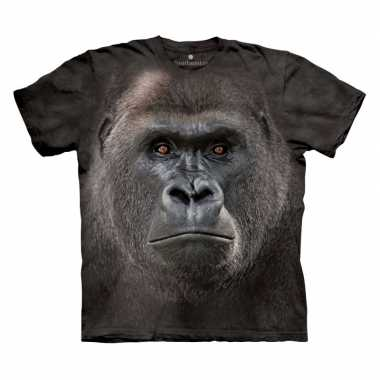 Goedkope all over print t shirt met gorilla
