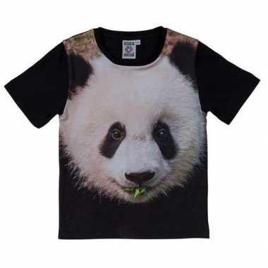 Goedkope all over print t shirt met pandabeer voor kinderen