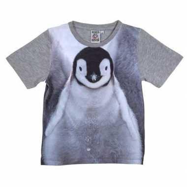 Goedkope all over print t shirt met pingu?n voor kinderen