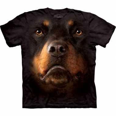 Goedkope all over print t shirt met rotweiler