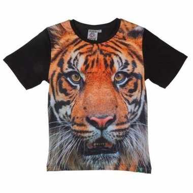 Goedkope all over print t shirt met tijger voor kinderen