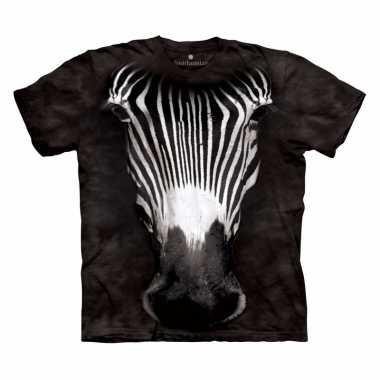 Goedkope all over print t shirt met zebra