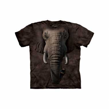 Goedkope all over print t shirt olifant
