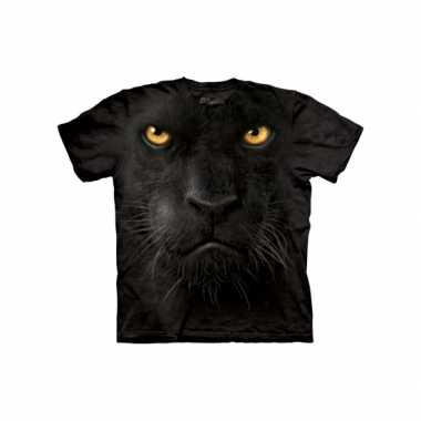 Goedkope all over print t shirt zwarte panter