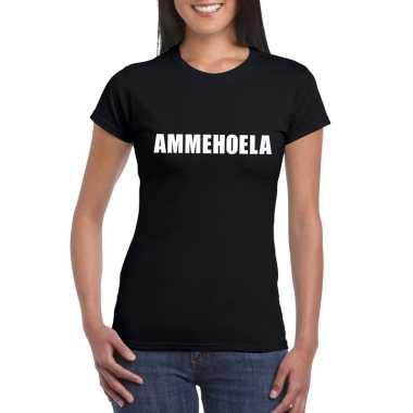 Goedkope ammehoela fun t shirt zwart voor dames
