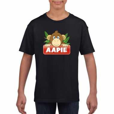 Goedkope apen dieren t shirt zwart voor kinderen