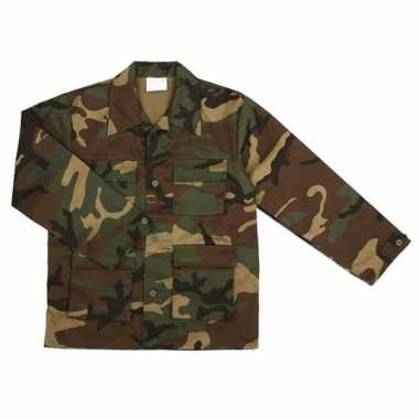 Goedkope  Army jas voor kinderen woodland camouflage