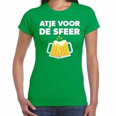 Goedkope atje voor de sfeer fun t shirt groen voor dames