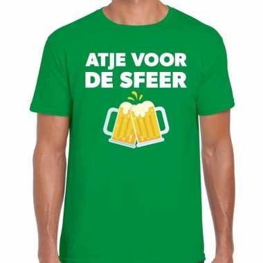 Goedkope atje voor de sfeer fun t shirt groen voor heren