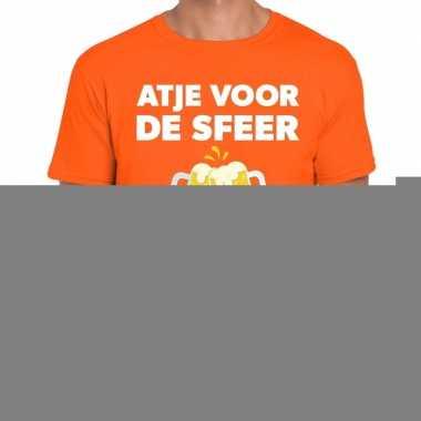 Goedkope atje voor de sfeer fun t shirt oranje voor heren