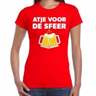 Goedkope atje voor de sfeer fun t shirt rood voor dames