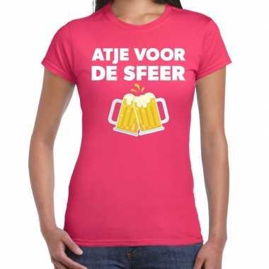 Goedkope atje voor de sfeer fun t shirt roze voor dames