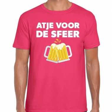 Goedkope atje voor de sfeer fun t shirt roze voor heren