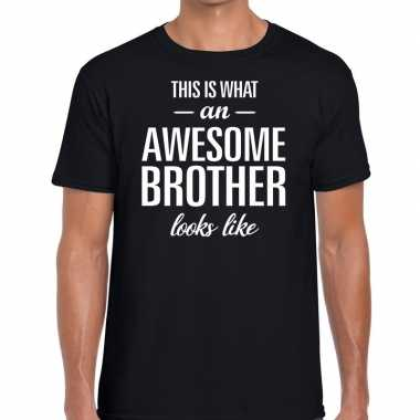 Goedkope awesome brother fun t-shirt zwart voor heren