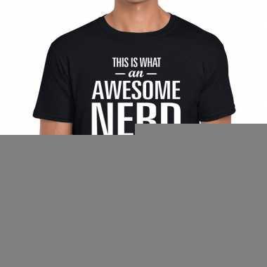 Goedkope awesome nerd fun t shirt zwart voor heren bedankt cadeau voo