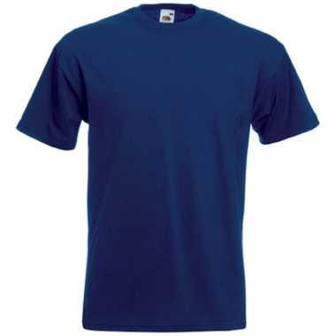 Goedkope basis heren t shirt donker blauw met ronde hals