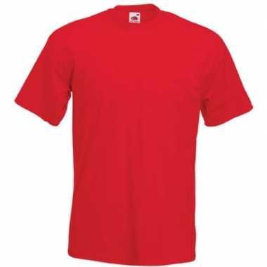 Goedkope basis heren t shirt rood met ronde hals