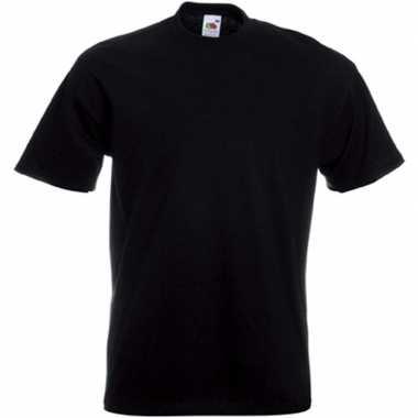 Goedkope basis heren t shirt zwart met ronde hals