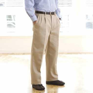Goedkope beige casual pantalon voor heren