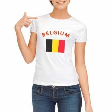 Goedkope belgische vlag t-shirt voor dames