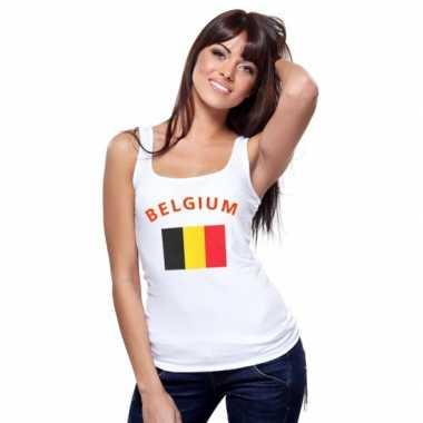 Goedkope belgische vlag tanktop t-shirt voor dames