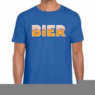 Goedkope bier fun t shirt blauw voor heren