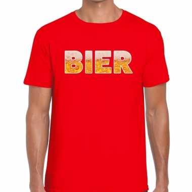 Goedkope bier fun t shirt rood voor heren