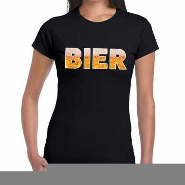 Goedkope bier fun t shirt zwart voor dames