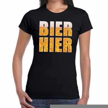 Goedkope bier hier fun t shirt zwart voor dames