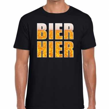 Goedkope bier hier fun t shirt zwart voor heren