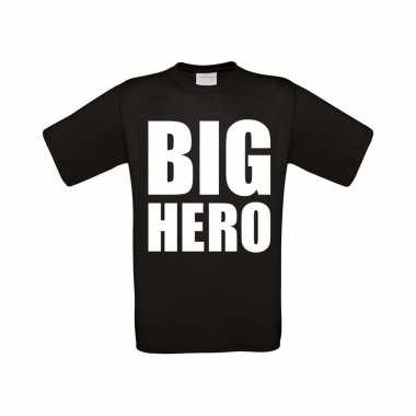 Goedkope big hero fun grote maten t shirt zwart heren