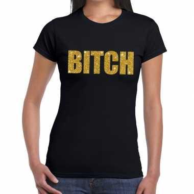 Goedkope bitch fun t shirt zwart voor dames