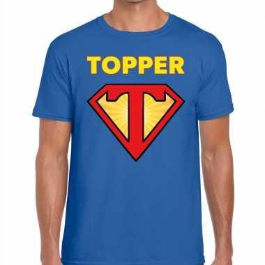 Goedkope blauw t shirt super topper heren