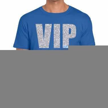 Goedkope blauw vip zilver fun t shirt voor heren
