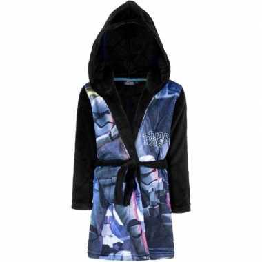 Goedkope blauw/zwarte star wars ochtendjas met capuchon voor jongens