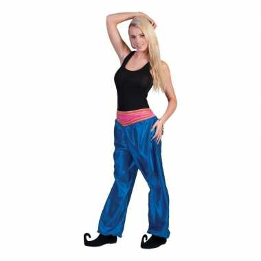 Goedkope blauwe 1001 nacht broek voor dames