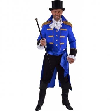 Goedkope blauwe baron verkleed jas voor heren