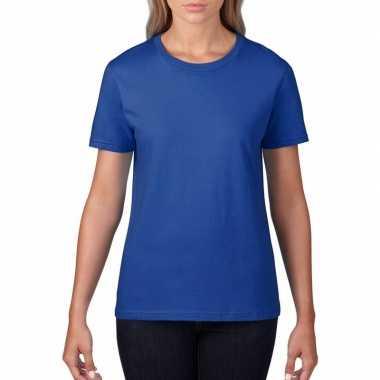 Goedkope blauwe dames casual t shirts met ronde hals