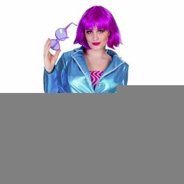Goedkope blauwe disco jaren 70 jasje voor dames