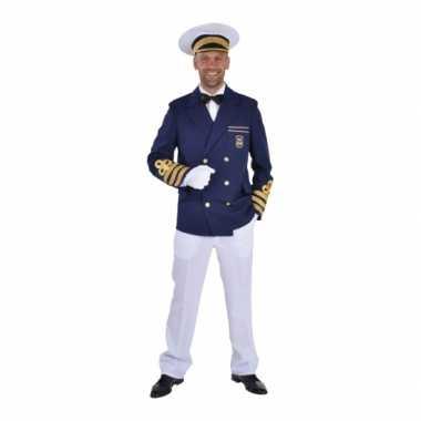 Goedkope blauwe kapiteins jasje heren