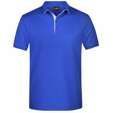 Goedkope blauwe premium poloshirt golf pro voor heren